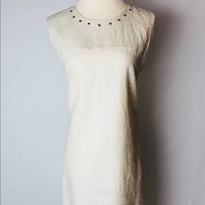 Cynthia Rowley White Linen Blend Dress Sz 12
